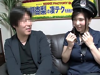 Crazy Japanese model in Best Handjob, MILF JAV video