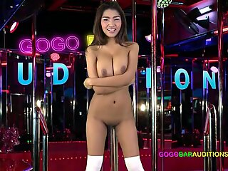 Thai with big boobs cowgirl rides boss  on casting couch