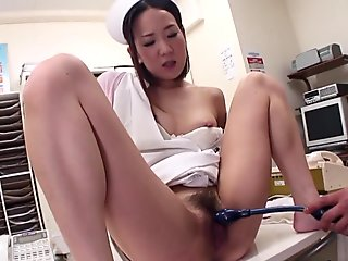 Amazing Nurse, Mika Kojima Is Masturbating For Her Patient - JapanHDV