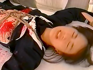 Japanese schoolgirl - restraint candle wax 01