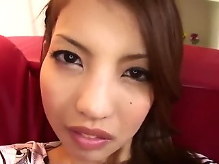Karen Misaki takes good care of cock after top toy porn  - More at javhd.net