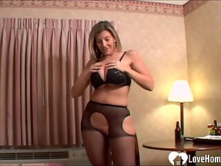 Busty stepmom displays her divine cock-munching talents