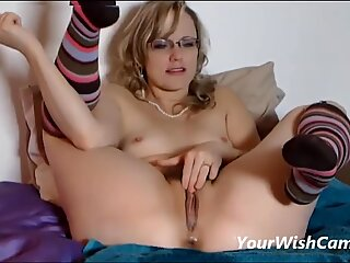 Mature mummy With Glasses fucking Her playthings Until Squirting