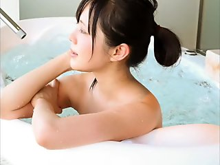 Mika Tanaka taking a bath