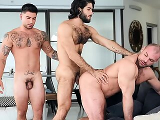 Studs fight for ass and cock