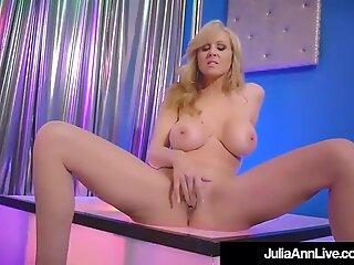 Stripper Milf Julia Ann Slides Up & Down Her Pole All Nude!