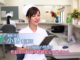 Horny Japanese chick Maria Ono in Incredible Stockings, Nurse JAV video