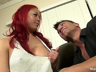 Asian hottie Mia fucks her Spanish tutor