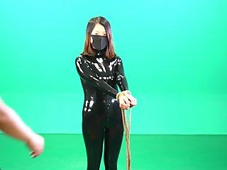 follow tw:@fetishslavestudio Tortured latex fetish slave girl