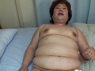 Fat Asian MILF gets a hard meat pole