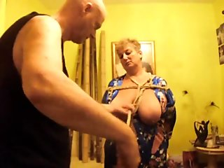 Breast Bondage performance