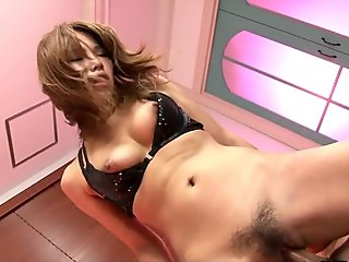 Charming Asian cutie Akiho Nishimura pussy pounded hard and fast