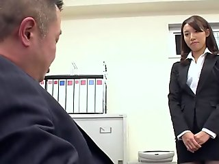 Anna Takizawa got hired and fucked on her first working day