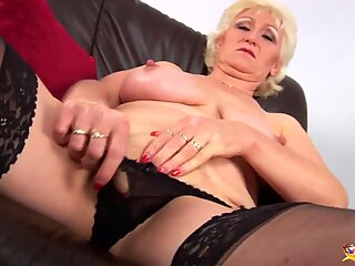 Busty mom   s first porn video
