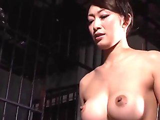 Strange japanese gold fetish with hot babe giving footjob